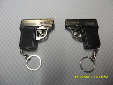 2 x LED/LASER POINTER GUN TORCH KEYRING NEW LED LIGHTS