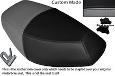 GREY & BLACK CUSTOM FITS PULSE SCOUT 50 BOATIAN DUAL LEATHER SEAT COVER