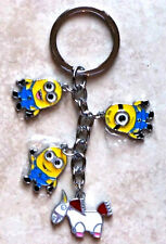 Despicable Me Keychain Minions Unicorn Cartoon Charm - Cute (New)