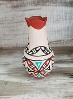 VTG Jemez Pueblo Signed Hand Painted Pottery Small Native American N.M Folk Art
