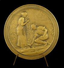Médaille 70mm Chemin de fer Gare fleuries Horticulture 1935 Broglie Pillet Medal