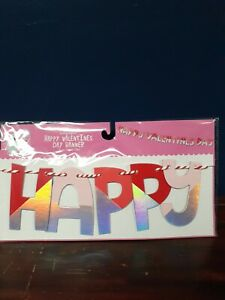 Holographic Happy Valentine's Day Banner 70 Inches