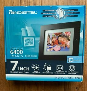 """Pandigital PAN7000DW 7"""" Digital Picture Frame plays Pictures Music Videos"""
