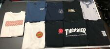 Lot of 9 Skateboard T-Shirts Size Medium Vans, Thrasher, Diamond, Hurley & More