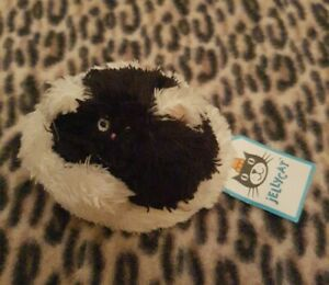 Jellycat Beanie Puss Cat Furry Curlikitty Retired plush toy collectable