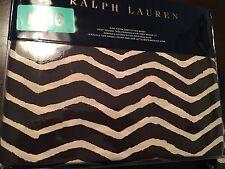 Ralph Lauren PRIYA Black Palms KING XDP Fitted Sheet - Black Cream NIP Free Ship