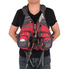 Multi-pocket Fly Fishing Backpack Chest Mesh Bag Vest Outdoor Size Adjustable