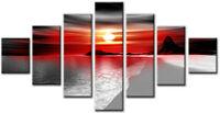 Venus 7p Red Large wall art canvas print artwork framed home living room kitchen