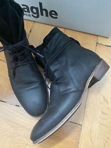 HUB Footwear Schuhe MALLET L81 dk brown Damen Stiefeletten Echtleder Reduziert