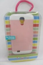 Light Pink & White Phone Case for Samsung Galaxy S4 / i9500, i Show hard case