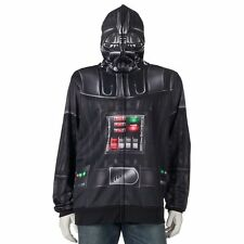 NEW Star Wars Darth Vader Men's Sublimated Costume Full Zip Up Hoodie M Medium