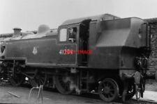 PHOTO  LMS CLASS 2MT LOCO NO 41204 AT TREDEGAR IN 1957