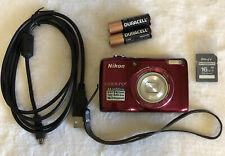 Nikon COOLPIX L26 16.1 MP Digital Camera 5x Zoom~~Mint~~16GB Card~~Bundle~~