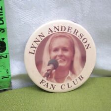 LYNN ANDERSON country music 1970s fan-club pinback Rose Garden sexy button