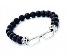 Beaded Elasticated Black Beads Glasses Bracelet Bangle Bead Gift Men And Women