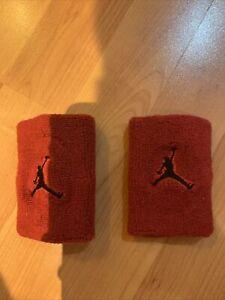 Nike Air Jordan Red Wristbands Sweatbands MJ NBA Basketball Michael Jordan