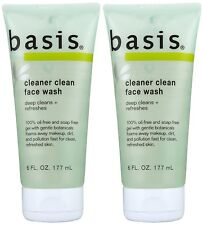 Basis Cleaner Clean Face Wash With Mint, Lemongrass And Aloe, 6 oz (PACK OF 2)