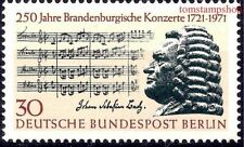 "Germany/B 1971 Bach Music Composer Musicians ""Brandenburg"" Score 1v MNH"