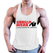 gym Gorilla wear cotton sleeveless tank top men muscle Bodybuilding workout vest