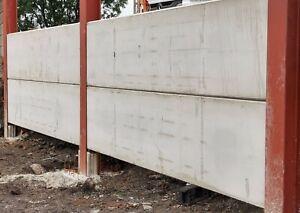 Concrete Panels 4570 x 1000 x 100 ce marked  6090 x 100 x 100