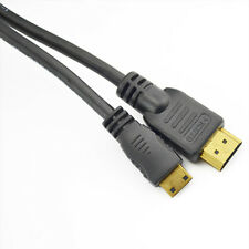 HDMI Mini Type C Male to Standard Male Cable Lead Full HD 1080p 1m Gold TV HD