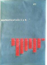 Original vintage poster JAZZ FESTIVAL ZURICH MUSIC 1993
