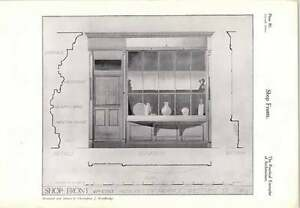 1927 Shop Front ofFrom Petty France, Westminster, London Detail drawing