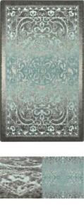 Pelham Vintage Kitchen Rugs Non Skid Accent Area CarpetMade in USA Grey/Blue