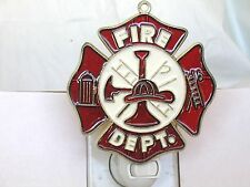 STAINED GLASS STYLE FIRE DEPARTMENT NIGHT LIGHT- GREAT GIFT FOR ALL OCCASIONS!