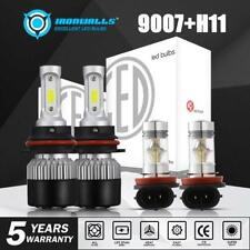 9007 Led Headlight+H11 Fog Light Bulbs for Nissan Frontier 2005-2018 White 6000K