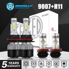 9007 LED Headlight+H11 Fog Light Bulbs for Nissan Frontier 2005-2018 White 6000K