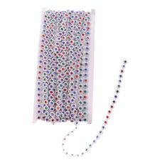 10 Yards Flower Rhinestone Bead Chain Ribbon Trim Sewing Decor Embellishment