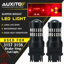 AUXITO 3157 Red LED Strobe Flashing Blinking Brake Tail Light/Parking Bulbs 48H