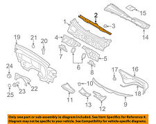 AUDI OEM 09-16 A4 Quattro-Cowl Panel Reinforcement 8K0805629D