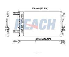 A/C Condenser Reach Cooling 31-4839 fits 97-04 Mitsubishi Montero Sport 3.0L-V6