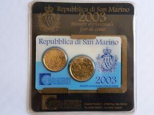 MINI SET KIT 2003 DE 2 MONNAIES SAN MARINO - NEUF