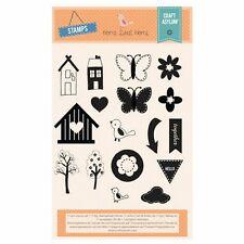Craft Asylum chiaro Francobolli-Home Sweet Home - 480050-Fiori Bird Tree-NUOVO