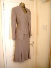 10 FRANK USHER MINK SUIT TOP SKIRT AND JACKET SMART NEW WEDDING PARTY SUMMER
