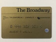 Vintage 80s The Broadway Credit Card Department Store Charge Plate Emporium