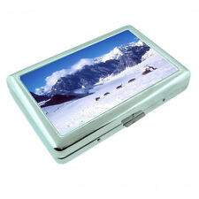 Scenic Alaska D3 Silver Metal Cigarette Case RFID Protection Wallet Dog Sledding