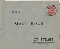 Brief verschickt von Halle nach Stuttgart aus dem Jahr 1894