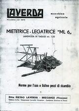 """PUBBLICITA'/ WERBUNG * LAVERDA : MIETITRICE/ LEGATRICE"""" ML 6 """"- NORME PER L'USO*"""