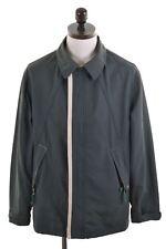 ARMANI JEANS Mens Jacket Size 38 Medium Green Cotton Loose Fit