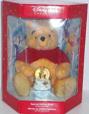 Disney Store Winnie  Pooh Plush Bear Mini Snowglobe Exclusive 2000 Retired NIB