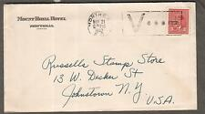 Canada WWII cover Mount Royal Hotel Montreal V cancel to Russells Stamp Store NY