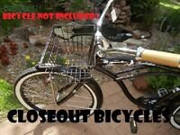 Front Bicycle Basket Lift Off Type Carrier Black Cruiser Commuter Bike