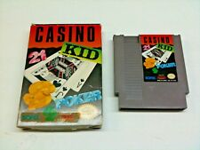 Casino Kid Nintendo NES Box and Cartridge Only Cleaned and Tested T57