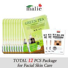 12pcs GREEN TEA Facial Mask Sheet Pack, Moisture Essence Skin Care Lots Korean