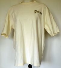 Vintage Girl Scouts of the USA Ivory Rib Knit Embroidered T-Shirt XL Made in USA