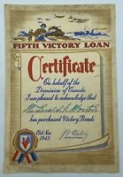 Fifth Victory Loan Certificate of Purchase Victory Bonds Canada PKAA37